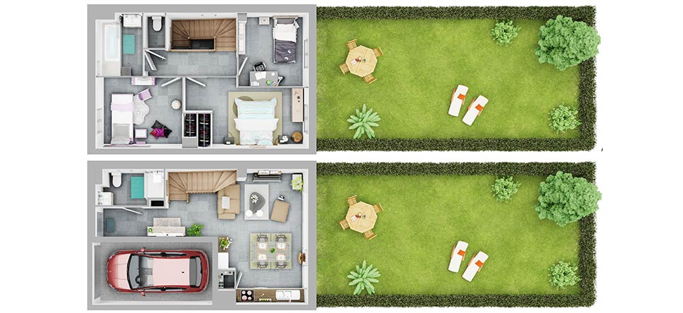 Exemple de maison (plan non contractuel)