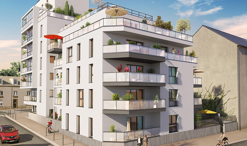 Neuf Appartement Rennes 35000 2 Pièces