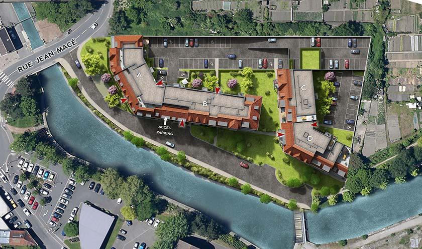 Programme immobilier neuf les berges du centre for Piscine wasquehal