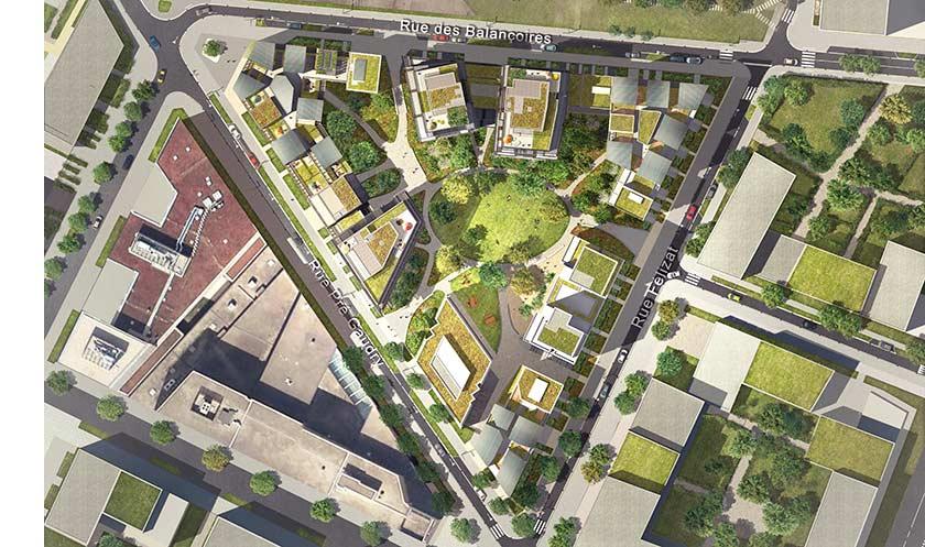 Programme immobilier neuf gerland autour d 39 un jardin for Jardin interieur lyon