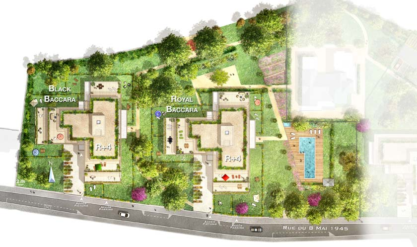 Programme immobilier neuf le jardin baccara bouygues for Plan masse jardin