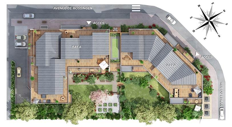 Programme immobilier neuf paradoxe bouygues immobilier for Plan betton